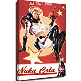 Canvas Art Wall Decor For Living Room Canvas Wall Pictures Fallout 4 Nuka Cola Wall Art Nwt Framed Canvas Posters 24x36inch