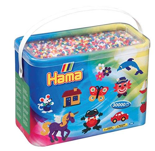 Hama–Midi–Cubo 30000Perlas Mixta 10Coul, 208–00