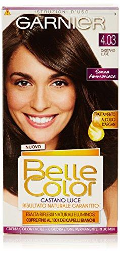 Garnier - Crema Color Facile senza Ammoniaca, Castano Luce 4.03 - 1 confezione