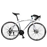 Hyuhome Bicicletas 26.5in aleación de Aluminio MTB 700C niñas Dirtbike, Bicicleta de montaña de 30 Equipo de Bicicleta de Rueda de Tierra con Shimano Sora,White Blue