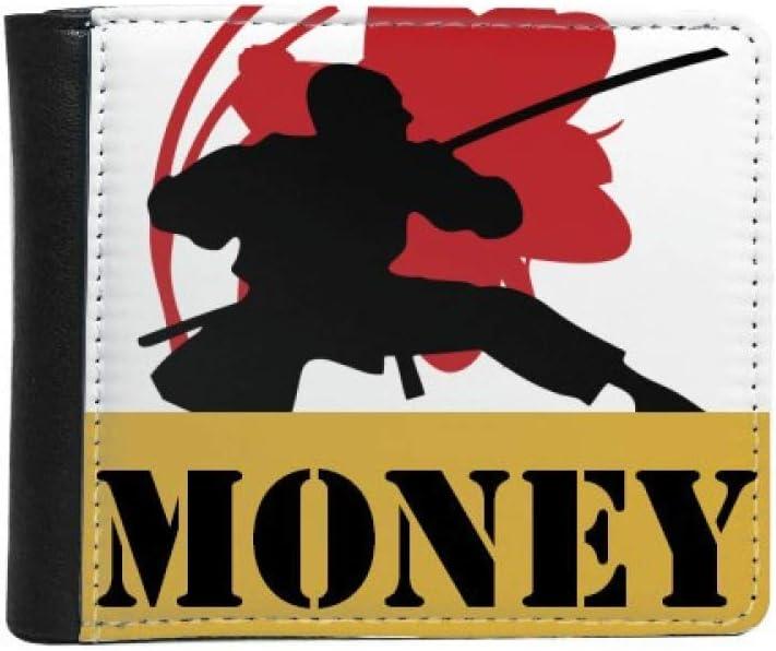 Japan Topics on TV Samurai Sakura trust Silhouette Asia Bif Wallet Money Purse Flip