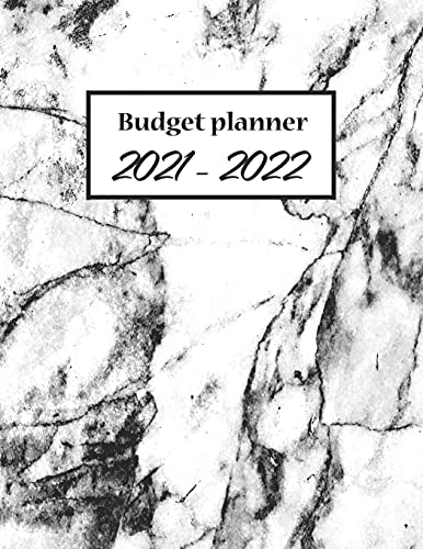 Budget Planner 2021-2022: Monthly Budgeting Journal, Finance Planner Tracking Your Bill, Paycheck For Men, Women With Floral Cover, 8.5 x 11 120 Pages
