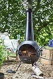 Oxford Barbecues 56135B X-Large Steel Chimenea - Black