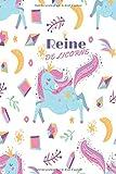 reine de licorne: Journal Ligné LICORNE, Original Fantaisie pour Filles & Fans de Licornes pour l'écriture Bloc Notes 120 pages