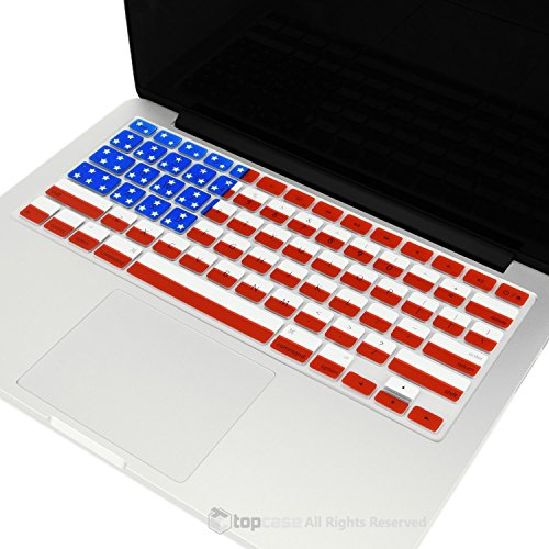 """TopCase FLAG Keyboard Silicone Cover Skin for Old Generation MacBook Pro 13"""" 15"""" 17"""" Aluminum Unibody (with or w/out Retina Display) iMac and MacBook 13"""" + TopCase Mouse Pad (US)"""