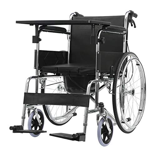 Fire cloud Multifunktionaler Rollstuhl mit Begleitpersonalantrieb, tragbarer Toilettenstuhl, mit weichem Sitzpolster, Tragkraft 220 Pfund, für ältere Menschen, Behinderte, Schwangere