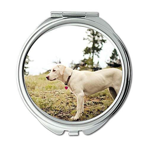 Yanteng Spiegel, runder Spiegel, französische Bulldogge Hündchen Cute Pet, Taschenspiegel, 1 X 2 X Vergrößerung