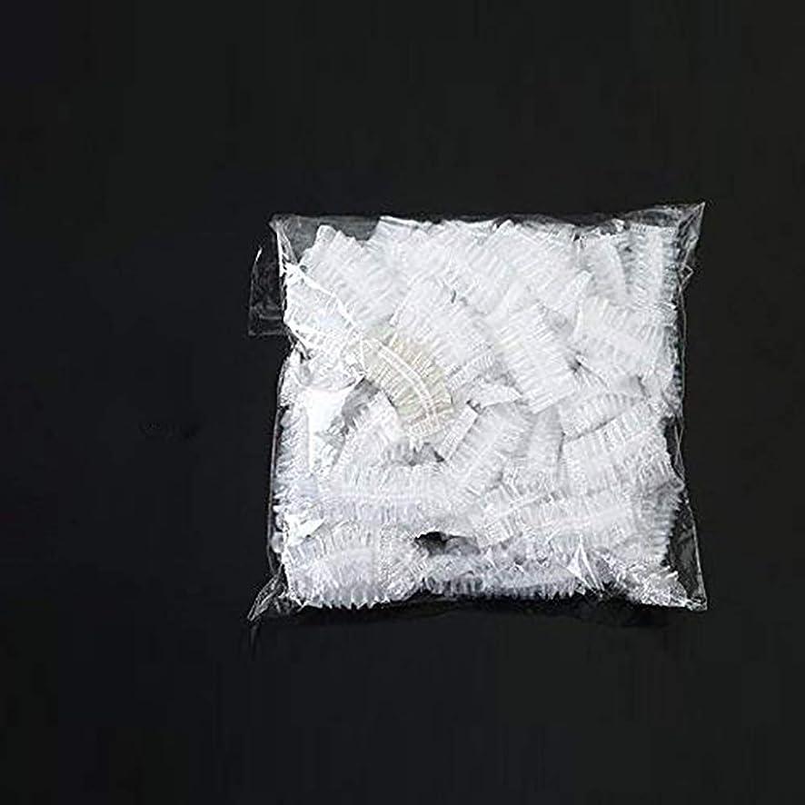 キャンペーンテスピアン差し控える100枚セット耳カバー イヤーキャップ 使い捨て毛染め用 シャワーキャップ 髪染め 耳キャップ