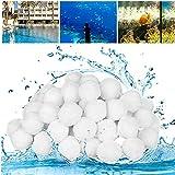 SUPERSUN Bolas de Filtro de Piscina, 700 g Bolas de Filtrantes Alternative para 25 kg Filtro de Arena, Filtrado de Agua