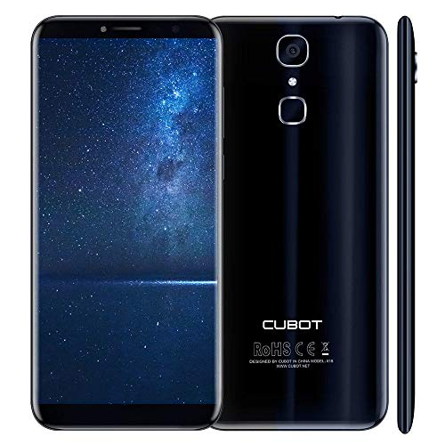 Cubot X18 Dual SIM 4G 32GB Black, Blue - Smartphones (14.5 cm (5.7'), 32 GB, 16 MP, Android, Android 7.0 Nougat, Black, Blue)