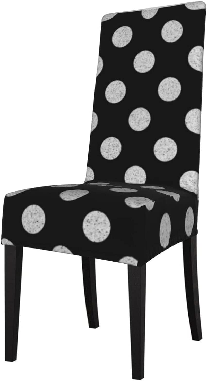 New life QUAVZI 2PCS Stretch Rapid rise Chair Covers for Black Room and White Dining