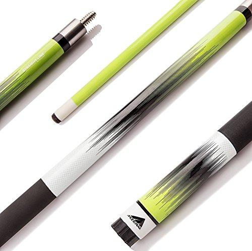 Escalade Sports Mizerak Deluxe Composite Neon Fade Cue, 58', Green