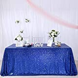 GFCC Royal Blue Sequin Tablecloth - Rectangle 50x80inch Glitter Tablecloth for Party Wedding Banquet Christmas Sparkle Table Cover Shimmer Cake Table Cloth Linen