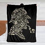 Sherlock Holmes Collage – Mantas de cama de franela ligera y acogedora manta para sofá, dormitorio, adultos y niños – 60 x 50 pulgadas