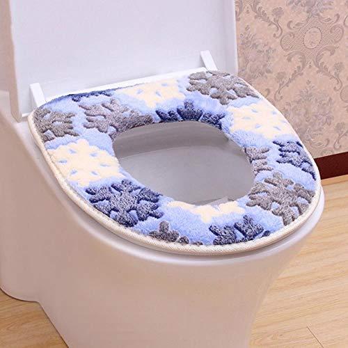 JxLinAAHH Zachte toiletbril plakkerige toiletmat Warm toiletbril Verwarmde kast Pad Wasbaar toiletbril Cover 3 stks