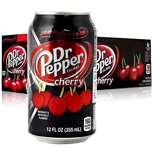 Dr.Pepper Dr Pepper Cherry 355ml X12 Set di bevande gassate, bibite, non alcoliche, beni americani]