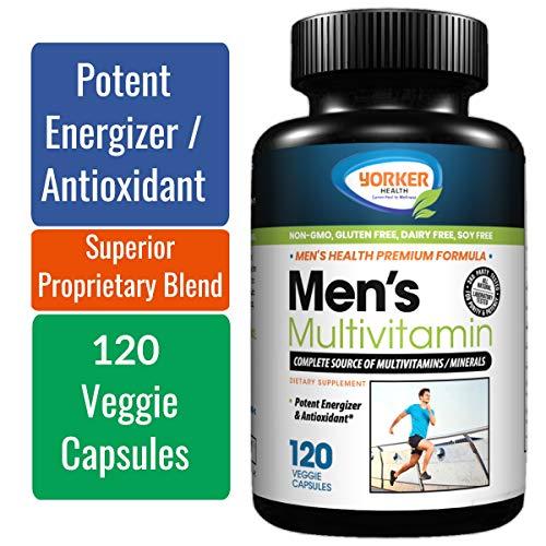 Men's Multivitamin | Blend of Vitamins/Minerals/Herbs | Vitamins A C E D B1 B2 B3 B5 B6 B12 | Calcium, Magnesium, Iron, Biotin, Folate, Spirulina, Zinc | Antioxidant, Heart Health