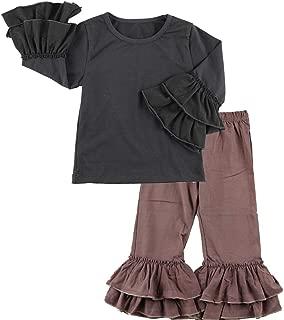 Wennikids Baby Girl Cute 2pcs Set Children Clothes Suit Top and Pants