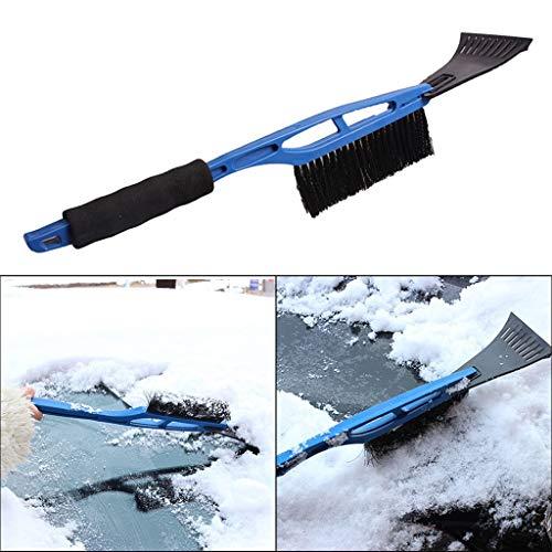YangYe Auto-Schnee Schub, 2-in-1-Eiskratzer mit Bürste for Auto-Windschutzscheibe Schnee entfernt Frost Besen Reiniger