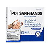 PDI D43600 Sani - Hands Alcohol Wipes -, 1000 Wipes, 5' x 8', Individual Packets