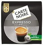 Carte Noire Café Espresso Classique N°8, Café en Dosette Compostables Compatibles Senseo, 10 Paquets de 36 dosettes souples (360 dosettes)