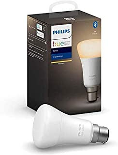 Philips Hue White Ambiance Bayonet Cap (B22) Dimmable LED Smart Bulb (Latest Model, Compatible with Bluetooth, Amazon Alex...