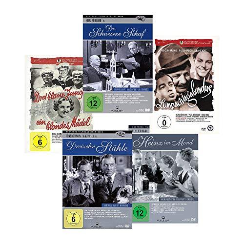 HEINZ RÜHMANN FILMSCHÄTZE – Dreizehn Stühle / Pater Brown – Das schwarze Schaf / Heinz im Mond / Lumpacivagabundus / Drei blaue Jungs, ein blondes Mädel [5 DVD-Set]