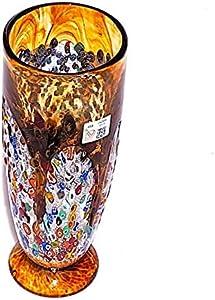 YourMurano Jarrón de cristal hecho a mano con decoraciones murrinas - Coali