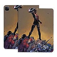 スパイダーマン マーベル iPad Pro 11 ケース 2021 第3世代 iPad Pro 11 カバー 第2世代 / iPad Pro 12.9 ケース 2020 磁気吸着 第二世代 磁気吸着 オートスリープ ウェイク スリム 軽量 薄型 シルク手触り 高級感 二つ折りスタンド マグネティック PU+TPU