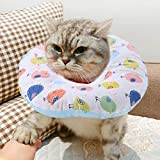 HEEPDD Pet Protective Recovery Collar Circle Cute Cartoon Bird Pattern Printing Padded Warm Bib Cushion Mat Does Not Block Vision with Adjustable Strap for Surgery Remedy Grooming Wound Healing (S)