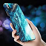 Cocomii Fancy Glass Marble Armor iPhone 6S Plus/6 Plus Funda Nuevo [Mármol Granito Abstracto] Pintura De Borde A Borde HD Recuadro Rectangular Case for Apple iPhone 6S Plus/6 Plus (FG.Ocean Green)