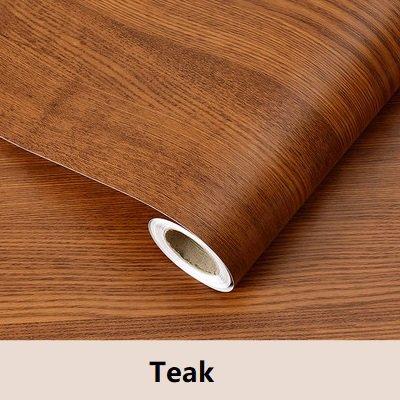 XY399 degrees PVC Vinyl Holzmaserung Kontakt Papier Für Küchenschränke Regal Liner Kleiderschrank Tür Aufkleber Wasserdicht Selbstklebende Tapete-in Tapeten Von Heimwerker Teak 60 cm X 3 mt