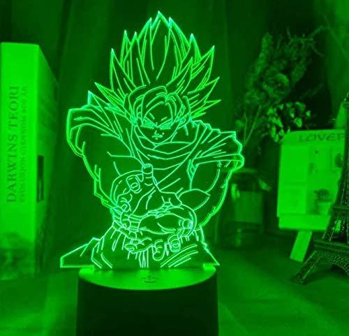 3D Illusion lampe Led veilleuse Dragon Ball Z Goku Figure pour enfants chambre décoration Unique enfant cadeau d'anniversaire Anime Gadget