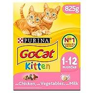 Go-Cat Kitten Dry Cat Food Chicken Milk & Veg 825g (Pack of 5)