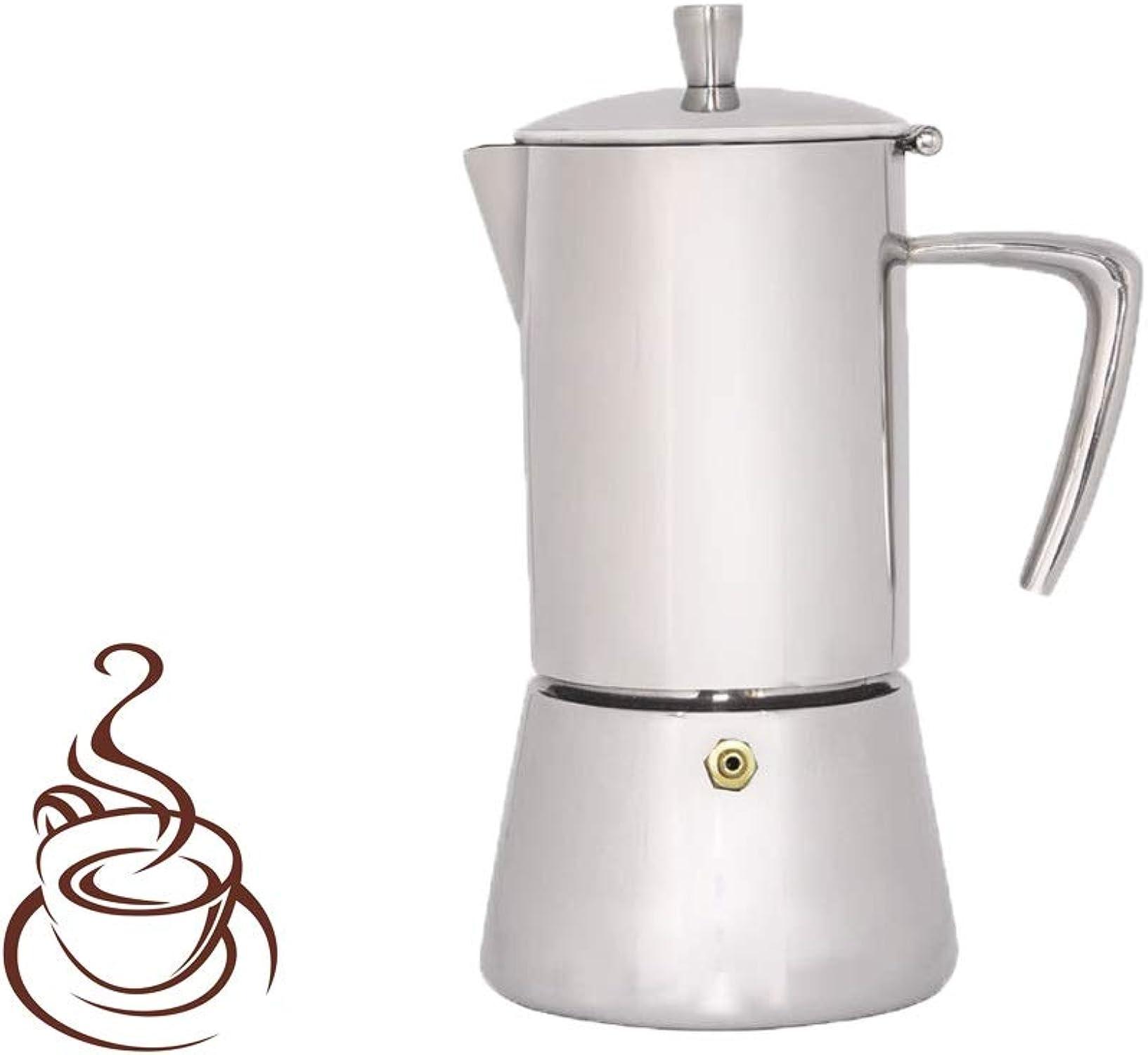 precio al por mayor Cafetera Italiana Moka Pot Mocha Coffee Coffee Coffee Pot Café de Acero Inoxidable Cafetera Italiana concentrada Mocha Cafetera para la Oficina en casa (Capacity   6cup)  descuento