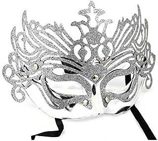 taglio laser Maschera di carnevale veneziana in metallo con cristalli Signstek