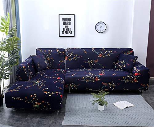 WXQY Funda de sofá de Esquina geométrica para Sala de Estar Funda de sofá elástica Funda de sofá Toalla de sofá elástica Funda de sofá en Forma de L A13 4 plazas