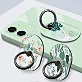 YDY 3 Pack Cell Phone Ring Holder Stand, Transparent Finger Kickstand 360°Rotation Phone Ring Grip for Smartphone (3 Oval-3)