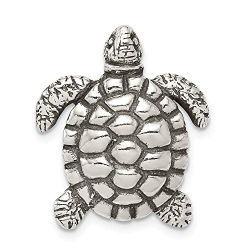 925 Sterling Silver Turtle Pendant Charm Necklace Sea Life Man Fine Jewelry For Dad Mens Gifts For Him