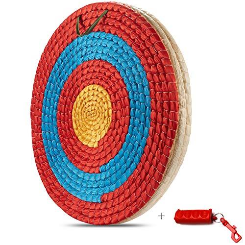 KAINOKAI - bersaglio tradizionale in paglia fatta a mano, per arco lungo o arco composto (diametro bersaglio tradizionale Φ: 50 cm/3 strati)