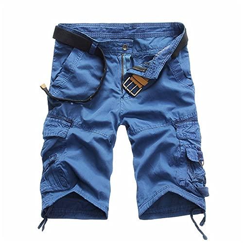 N\P Los hombres de carga pantalones cortos de verano masculino casual pantalones cortos de cintura de los hombres de