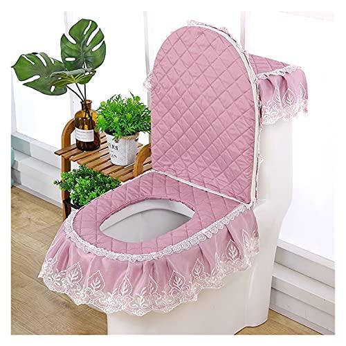 FJZFXKZL Protector WC 3 unids Tapa de Asiento de Inodoro decoración de baño Cubierta de Inodoro Cubierta de Inodoro Lavable clossool Asiento Cubierta de Asiento (Color : Lavender)