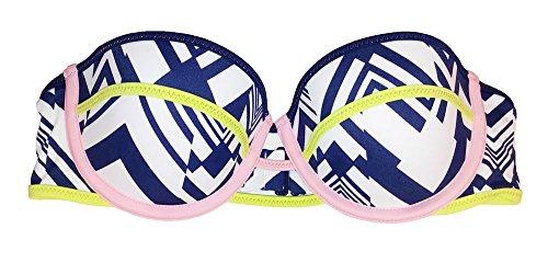 Victoria's Secret 1 x trägerloses Bikini-Oberteil. - mehrfarbig - 75B