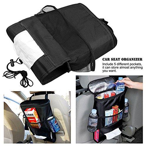 OurLeeme Auto Sitz Rückseite Keep Wärmer/Kälter Organizer Tasche mit Tissue Box Getränkehalter