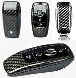 Max Auto Carbon kompatible mit Mercedes Benz Voll Carbon echt Karbon Schlüssel Hülle Etui Schutz A B C CLA CLS E S Klasse GLA GLB GLC GLE GLS Klasse GT Klasse