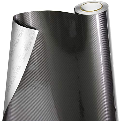VViViD - Rollo de vinilo 5D de fibra de carbono epoxi gris brillante