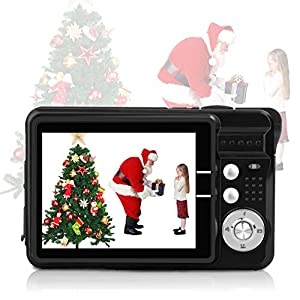 HD Mini Digital Cameras,Point and Shoot Digital Cameras for Kids Teenagers-Travel,Camping,Gifts (Silver) from Eshake