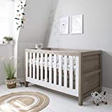 <span class='highlight'>Tutti</span> <span class='highlight'>Bambini</span> Modena Nursery Cot Bed - Converts into a Junior and Sofa Bed (White & Oak)