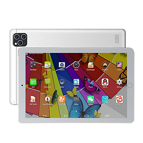 LINGOSHUN Tableta Android,1GB RAM 16GB ROM,Pantalla IPS HD 1280x800, Fuselaje de Metal,Wifi,Bluetooth,Google Play,Batería 4000mAh Tablet/Blanco / 10.1 inch