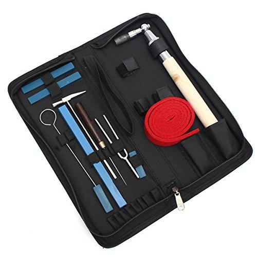 EsportsMJJ 10 Stks Piano Tuning Hammer Mute Wrench Hammer Handvat Kit Professionele Tools+Case